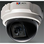 1.3MP Indoor Dome Camera with eD/N, Fixed Lens, f2.8mm/F2.0, H.264, 720p/26fps, PoE