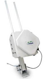 "ALVR-Wi2-ODU-b/g, WiFi 802.11 b/g outdoor access point with integrated 110/220 VAC and 48VDC power options for feeding the WiFi and backhauling unit together, up/down tilting option and pole (2""-6"") mounting kit included"