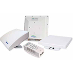 BreezeNET B300, BU/RB-B300-5X, Outdoor Unit (ODU) with integrated 23 dBi 8 degrees dual polarization antenna, dual Ethernet interfaces, Indoor Units (IDU) Input AC power 110VAC-220VAC, 4950-5920GHz, up to 250 Mbps, TX power 18dBm