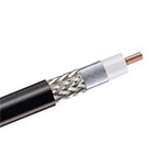 "AND 3/8"" CNT-400 50 Ohm Braided Coaxial Cable, Black PE jacket, price per foot, SOI"