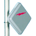 AND 23dBi, 1' Panel, 5.1-5.8GHz, Pole Mount
