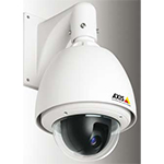 AXIS 215 PTZ-E Outdoor Pan/Tilt/Zoom (12x) Network Camera, IP66-rated. Auto-iris, automatic Day/Night, and auto-focus zoom lens. Up to 4CIF resolution at 30/25 fps. Simultaneous MPEG-4 and Motion JPEG. Pre-mounted wall bracket. 100-240VAC power input