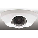 AXIS M3113-R Fixed Dome Network Camera with rugged design, adapted for mobile video surveillance. Configurable H.264 and Motion JPEG streams; max SVGA resolution at 30 fps. WDR. PoE. Midspan not included