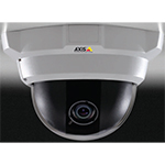 AXIS M3204 Fixed Dome Network Camera with discreet and tamper-resistant casing. Varifocal 2.8-10 mm lens with fixed iris. Configurable H.264 and Motion JPEG streams; max HDTV 720p or 1 MP resolution at 30 fps. PoE. Midspan not included