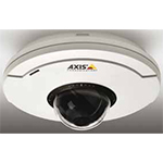 AXIS M5013 Ceiling-mount mini PTZ Dome Network Camera with SVGA resolution and 3x digital zoom. 800x600 at 30fps in H.264 and Motion JPEG, IP51. Only PoE, midspan not included. Hard and soft ceiling mounting brackets included