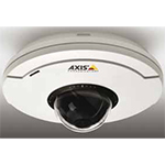 AXIS M5014 Ceiling-mount mini PTZ Dome Network Camera with HDTV 720p resolution and 3x digital zoom. 1280x720 at 30fps in H.264 and Motion JPEG, IP51. Only PoE, midspan not included. Hard and soft ceiling mounting brackets included