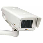AXIS P1347-E Outdoor Fixed Network Camera, IP66-rated, 5MP, Day/Night, with varifocal 3.5-10 mm P-Iris lens and remote back focus (supports DC-iris lenses). Configurable H.264 and Motion JPEG streams; max 5MP resolution at 12 fps. Midspan not included