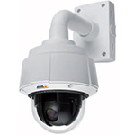 AXIS Q6032-E PTZ 36x optical zoom Outdoor-ready Dome Network Camera. IP66, WDR, EIS. Auto D/N. Continuous 360 deg. rotation, 220 deg. tilt w/E-flip. Ext. D1 at 30fps in H.264 and MJPEG. High PoE only. Includes transparent bubble and PoE