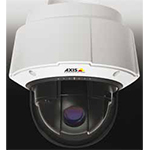AXIS Q6035-E HDTV Outdoor-ready PTZ Dome Network Camera with 20x optical zoom. IP66, WDR. Auto D/N. Continuous 360 deg. rotation, 220 deg. tilt w/E-flip. HDTV 1080p at 30 fps in H.264. High PoE only. Includes dome cover and High PoE midspan