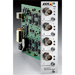 AXIS Q7414 4 channel Video Encoder Blade. Multiple, individually configurable H.264 and Motion JPEG streams; max. D1 resolution at 30/25 fps per channel. 4 bi-directional audio channels with AAC encoding. Video motion detection