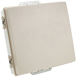 "Die Cast Enclosure with integrated 2.4/5GHz 15dBi Antenna in hinged cover (8"" LMR(R)100 pigtail with MMCX, RPMMCX, MC-Card, U.FL, RPSMA, NF or RPTNC connector)"