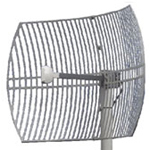 "17 dBi 3.5GHz Wire Grid Antenna (30"" LMR(R)240 pigtail with N-Female or N-Male connector), Dimensions: 14""x12"""