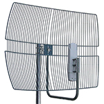"14 dBi/2.4GHz, 19 dBi/5GHz Wire Grid Antenna for Canopy. 16"" Grid Antenna, galvanized steel"