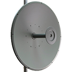 HD Series 25 dBi 3.3-3.8GHz Wideband Dish Antenna, N-Female Integrated Connector