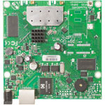 RouterBOARD 911G with 600MHz Atheros CPU, 64MB RAM, 1x Gigabit LAN, Built-in 2.4GHz 802.11b/g/n 2x2 Dual Chain Wireless Radio, 2x MMCX connectors, RouterOS L3. Sale price while supplies last