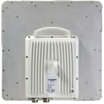 RADWIN 2000 C-Series ODU with 22 dBi integrated antenna, supporting multi frequency bands at 3.xGHz up to 100Mbps net aggregate throughput, factory default 3.65GHz FCC/IC