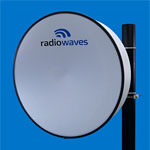 3' (0.9m) High Performance Dish Antenna, 10.7-11.7GHz, Rectangular CPR90G Flange, SOI