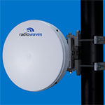 1' (0.3m) High Performance Dish Antenna, Low Profile, 37.0-40.0GHz, Dual Polarized, WR28 Flange, SOI