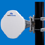 1' (0.3m) High Performance Dish Antenna, Low Profile, 14.25-15.35GHz, Discriminator Series(tm), WR62 Flange, SOI