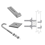 "LADDER ATTACHMENT HARDWARE KIT 1 1/2""-6"" ANGLE 20' LADDER"