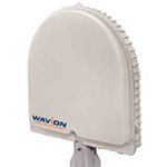 Wavion Base Station, 15006702, 4.9-5.9GHz 120 Deg. Sector, Spatially adaptive Beamforming, multi-radio base station, with an array of 3 sector antennas, same band self backhaul, PoE injector sold separately, Pole mount kit, TUV compliant