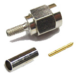 "SMA-Male connector for LMR(R)-100/RG174 1/8"" coaxial cable, SOI"