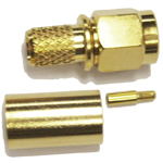 "Reverse polarity SMA-Male (female pin) connector for 240 type 1/4"" coaxial cable, SOI"