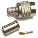 "TNC-Male connector for 240 type 1/4"" coaxial cable, SOI"
