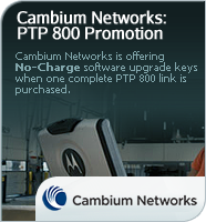 Cambium Networks PTP 800 Software Promotion