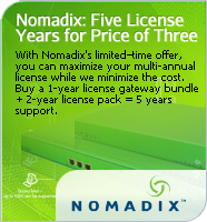 Nomadix Five License Years for the Price of Three