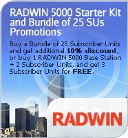 RADWIN 5000 Subscribers Bundle and Starter Kit Promotions